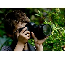 Young Budding Photographer ........... Photographic Print