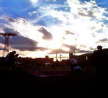 Coney Island Sunset by Mahnewl