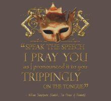 Shakespeare's Hamlet Speech Quote One Piece - Short Sleeve