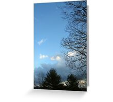 blue sky moon Greeting Card