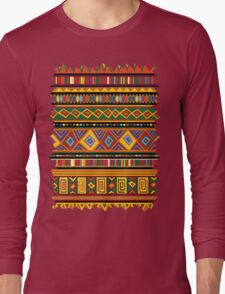 Ethnic Colorful Pattern Africa Art Long Sleeve T-Shirt