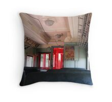 Old Electric Trolley Car of the Early 1900s Throw Pillow