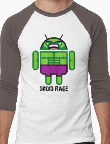 Droid Rage BugDroid Men's Baseball ¾ T-Shirt