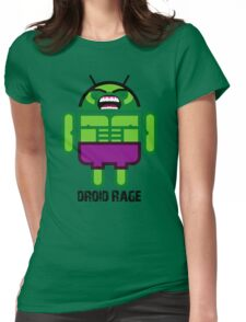 Droid Rage BugDroid Womens Fitted T-Shirt
