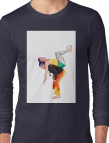 Balance - two acrobats balancing on each other Long Sleeve T-Shirt