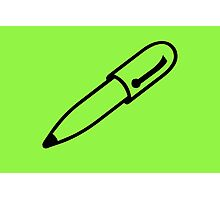Green Pen Photographic Print