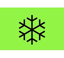 Green Snowflake Photographic Print