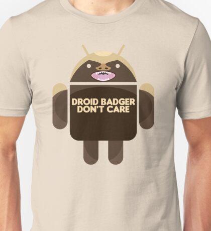 Badger Droid Don't Care Unisex T-Shirt