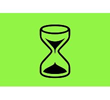 Green Sand Timer Photographic Print