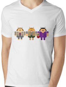 Lebowski BugDroids Mens V-Neck T-Shirt