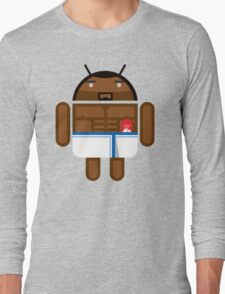 Old Spice Guy BugDroid Long Sleeve T-Shirt
