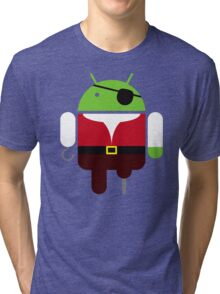 Pirate BugDroid Tri-blend T-Shirt
