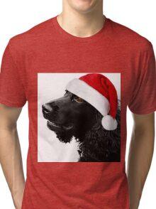 Merry Christmas Cocker  Tri-blend T-Shirt