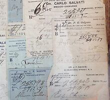 1929 Pharmacy Scripts in Italian - Greenwich Village, NYC by SylviaS