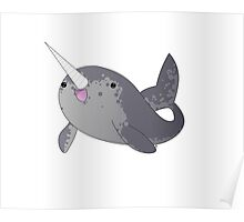 Happy Little Narwhal Poster