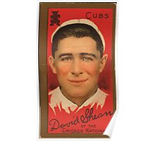 Benjamin K Edwards Collection David Shean Chicago Cubs baseball card portrait Poster