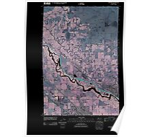 USGS Topo Map Washington State WA Toppenish 20110502 TM Inverted Poster
