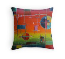 Circuit Horizon Throw Pillow