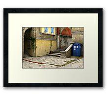 Tardis-Mediterranean-02 Framed Print