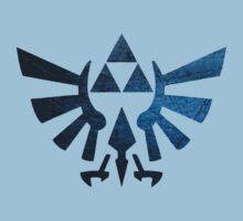 Zelda triforce damaged Kids Tee