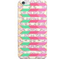 Colorful Hipster Floral Print Zigzag Pattern iPhone Case/Skin