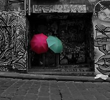 Umbrella's Amongst Graffiti by agedog