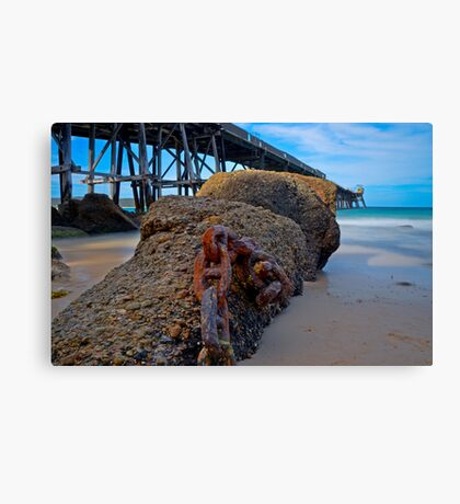 Chained Down, Demolishing on the Way Canvas Print