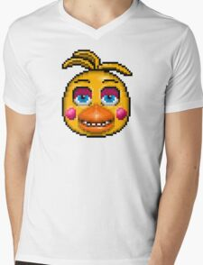 Five Nights at Freddy's 2 - Pixel art - Toy Chica Mens V-Neck T-Shirt