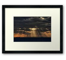 Sunbeams in the Storm Framed Print