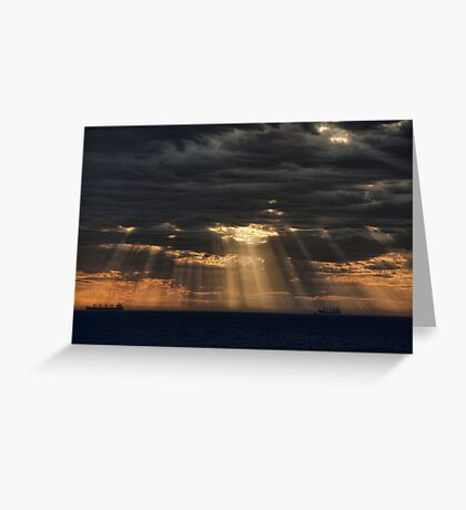 Sunbeams in the Storm Greeting Card