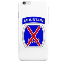 10th Mountain Division Logo iPhone Case/Skin