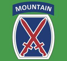 10th Mountain Division Logo Baby Tee