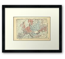 Vintage Map of Europe (1911) Framed Print