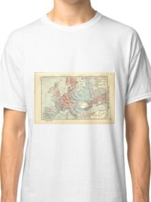 Vintage Map of Europe (1911) Classic T-Shirt