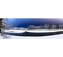 Skykomish River Night Scene Panoramic Photographic Print