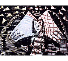 """Dracon & Angels"" (2012, woocutprint, 40x50cm) Photographic Print"