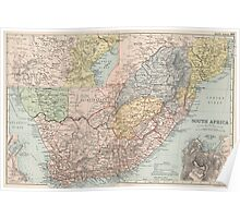 Vintage Map of South Africa (1892) Poster