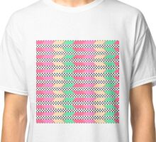 Colorful Hipster Polka Dots Print Zigzag Pattern Classic T-Shirt
