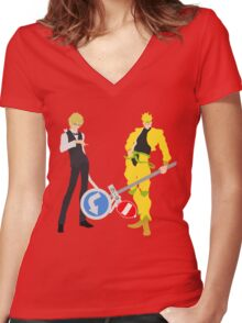 Signs Make The Best Weapons! Women's Fitted V-Neck T-Shirt