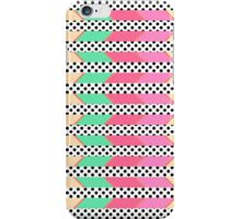 Colorful Hipster Polka Dots Print Zigzag Pattern iPhone Case/Skin