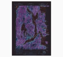 USGS Topo Map Washington State WA Port Orchard 243231 1937 62500 Inverted One Piece - Short Sleeve