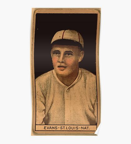 Benjamin K Edwards Collection Louis Evans St Louis Cardinals baseball card portrait 001 Poster