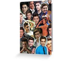 Zac Efron collage Greeting Card