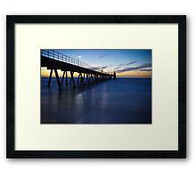 Glenelg Jetty - Sunset/Night Framed Print