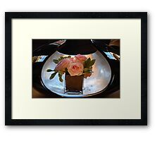 Mirror Roses Framed Print