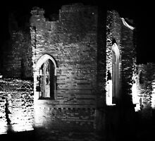 newport gwent castle by night by mbimages