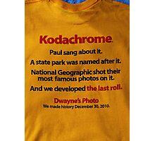 The last days  of Kodachrome  Photographic Print