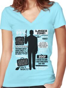 Archer - Sterling Archer Quotes Women's Fitted V-Neck T-Shirt