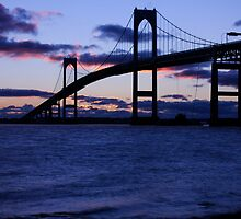 Pell Bridge, Newport RI ~ Sunrise 1.15.12 by Papandrea Photography