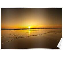 Tideline sunrise  Poster